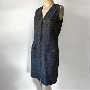 Vintage 90's Wool Blend Plaid Jumper Dress